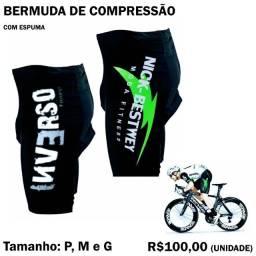 Bermuda de Compressão para Ciclismo