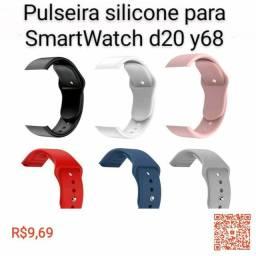 Pulseiras de silicone para Smartwatch D20/Y68