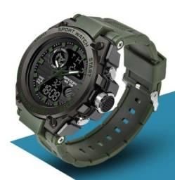 Relógio Sanda P739 Sport Watch Preto e Verde