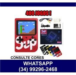 Mini Game Retrô c/ 400 Jogos * Super Mario * Fazemos Entregas