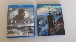 Blu-rays  Êxodo: Deuses e Reis e Noé em 3D duplo