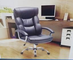 Cadeira Escritório Presidente Marrom ou Preta (Nova)