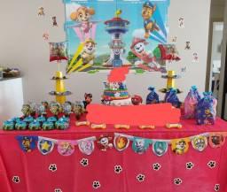 Kit decoração festa em casa Patrulha Canina