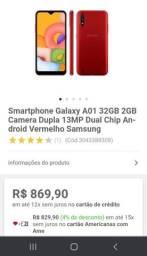 De 800 por apenas 650 Samsung A01 vermelho