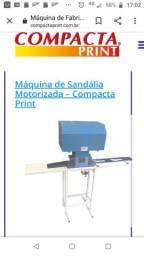 Máquina de fabricação de sandálias