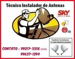 Instalador,técnico e vendedor de antenas