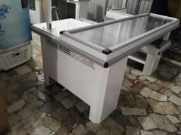 Balcão caixa Check-out mesa Inox para mercado mercarias 1.05X2,10