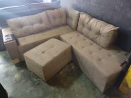Sofa de canto com puff 2,20m MM