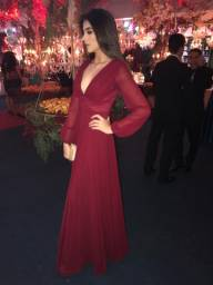 Vestido De Festa Longo Marsala