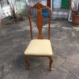 Conjunto de 6 Cadeiras de Louro Freijó usadas