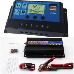 Kit para sistema off grid inversor senoidal pura + controladora