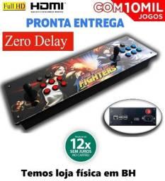 Fliperama Portátil Zero Delay + 10Mil Jogos - Cartão 12x sem Juros - Loja Física