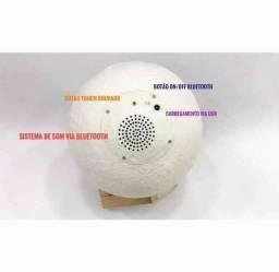 Luminária Lua Cheia ?  3D 16 Cores Bluetooth Caixa de Som
