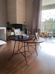 Conjunto de 2 mesas de centro ou lateral estilo Boho Étnico modelo Jahari da TokStok