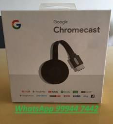 Chromecast Google 2 - Original - Novo, caixa lacrada - JJR Eletrônicos