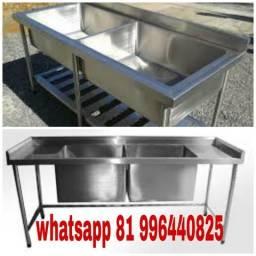 Pia para cozinha industrial