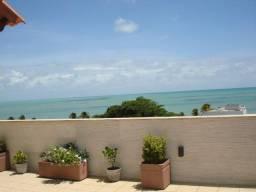 Cobertura plana no Bessa a poucos metros e com vista definitiva para o mar (Caribessa)