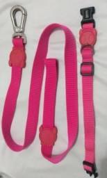 Coleira e Guia ZeeDog Pink