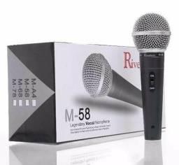 Microfone M 58 com fio;) entrega grátis