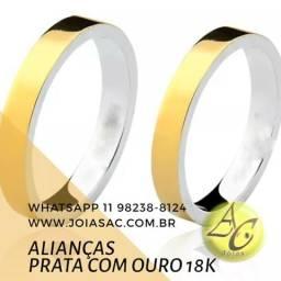 01deea9b8a2 Aliança noivado com Prata