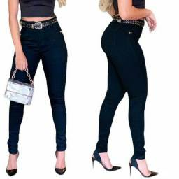 Calça Jeans Feminina Hot Pants Levanta Bumbum Cintura Alta