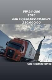Vw 24-280 ano 2015 com Bau 10,5 metros + plataforma