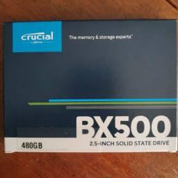 SSD Crucial 480GB Lacrado. Aceito cartão