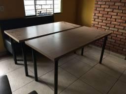 Mesa para 6/8 lugares com tampo em mdf cor café