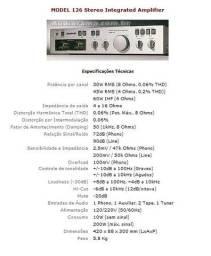 Amplificador model 126 Gradiente
