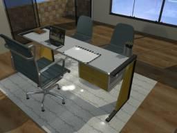 Mesa de Escritório em Madeira Maciça. Pag Após Entrega. Zap 75- *. Gil