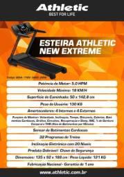 Esteira modelo atheltic extreme com sistema de inclinação eletrônico garantia de um ano