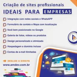 Criação de sites para empresas e profissionais autônomos