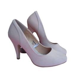 Sapato Social Evangélico Feminino Rosa Claro ou Nude Importado Como Novo