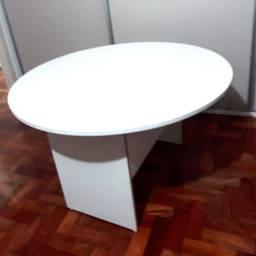 Mesa redonda mdf branca