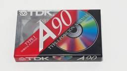 Fita cassete TDK A90 LACRADA K7