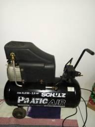 Compressor de ar Schulz 8,2/30-2,0 HP Pratic Air 116 lbf/pol