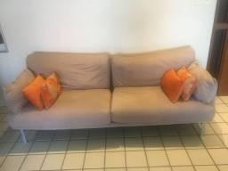 Sofa suede 3 lugares