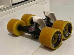 Truck Tensor Mag Light + Roda Micro Monster Hawgs + Rolamento Sector 9