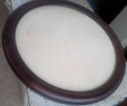 Raridade moldura para espelho em madeira maciça, 60cm circular