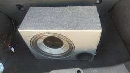 Caixa Sub Pioneer 600w + Módulo taramps ts400