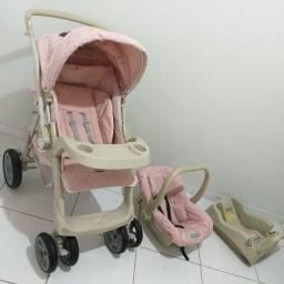 Carrinho+Base+Bebê Conforto Burigotto(Aceito cartão)