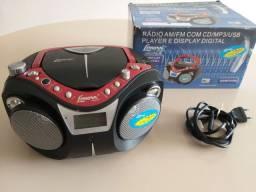 Radio CD player portátil Lenoxx BD-115   PERFEITO