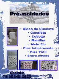 PRÉ-MOLDADOS DIVERSOS (bloco de cimento,calhas etc)