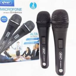 (WhatsApp) microfone duplo com fio
