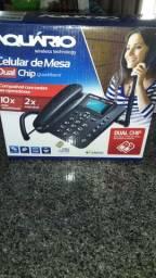 Telefone Rural aquário 2 chips