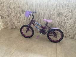 Bicicleta da Frozen para menina de 3 a 7 anos
