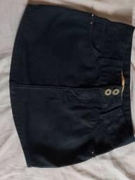 Saia jeans preta