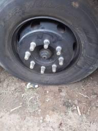 Eixo dianteiro 8 furos mais rodas