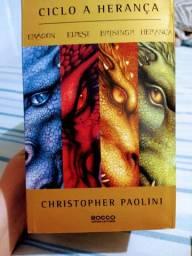 Kit/Box 4 livros Eragon Eldest Brisingr herança Christopher Paol