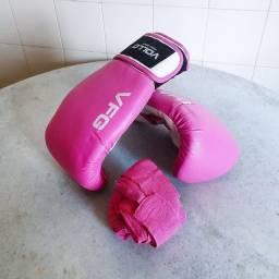Luva de Box Feminina + Faixa de Proteção